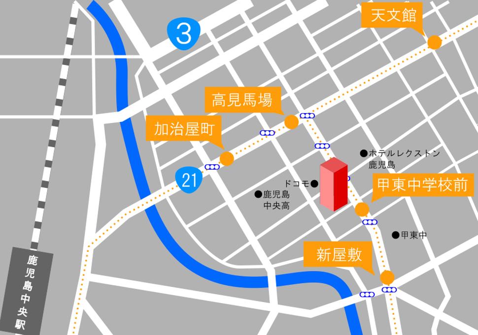 地図 本社 簡易地図 加治屋町
